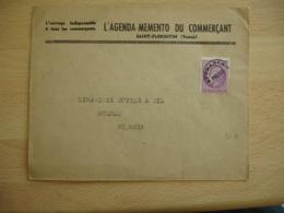 Po P O Pre Oblitere Timbre Type Ceres 1 F 50  Sur Lettre Commerciale Saint Florentin R - 1877-1920: Periodo Semi Moderno