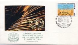 ITALIA - BUSTA UFFICIALE FAO 1995 - CON SCHEDA TELEFONICA NUOVA E ANULLO FILATELICO - Italia