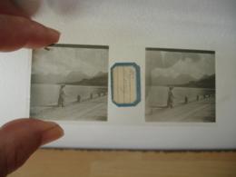 Lot De 2 Animation Duingt Interieur Village  Plaque De Verre Stereo Photo Photographie - Glass Slides