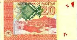 Pakistan UNC Banknote, Re.20/-, Yasin Anwar Signature, 2012 - Pakistan