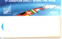 Carte Salon  Magnétique 9th European Direct Marketing Week Card Karte (G197) TBE - Cartes De Salon Et Démonstration