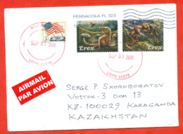 USA 2019. The Envelope Passed The Mail. Airmail. - Prehistorics