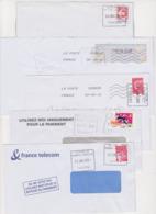 Lot De 5 Lettres Oblitération Cachet Composteur Dit UNIQUE Format Carré LA POSTE Type A200B Dont Sur Luquet Jumelet - Marcofilia (sobres)