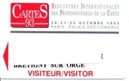 Carte Salon  Magnétique CarteS 93 Card Karte (G 198) TBE - Cartes De Salon Et Démonstration