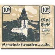 Billet, Autriche, KEMATEN, 10 Heller, Eglise 1920-12-31, SUP+ Mehl:FS 430c - Autriche