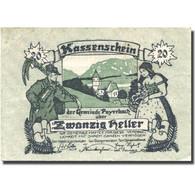 Billet, Autriche, Payerbach, 20 Heller, Personnage, 1920 TTB Mehl:FS 725 - Autriche