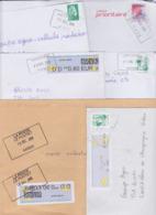 Lot De 11 Lettres Oblitération Cachet Composteur Dit UNIQUE Format Rectangle LA POSTE Type A200B Assimilé - Marcofilia (sobres)