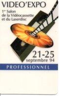 1er Salon De La Vidéocassette Et Du Larserdisc Carte Salon Card Karte (G 199) TBE - Cartes De Salon Et Démonstration