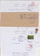 Lot De 10 Lettres Oblitération Cachet Composteur Dit UNIQUE Format Rond LA POSTE Type A200B Assimilé 95 VAL D'OISE - Marcofilia (sobres)