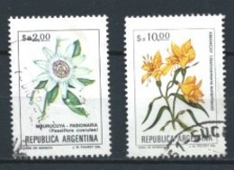 ARGENTINA 1984 (O) USADOS MI-1641+1722 YT-1358+1390 FLORES - Argentina