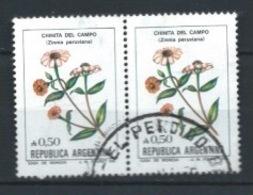 ARGENTINA 1985 (O) USADOS MI-1756 YT-1478 BL.2 FLORES - Argentina