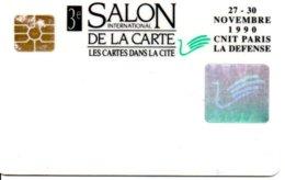 Carte Spécimen - Salon International De La Carte Blanche 1990 Card Karte (G 200) TBE - Cartes De Salon Et Démonstration