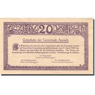 Billet, Autriche, Aurach, 20 Heller, Village, 1920, 1920-04-27, SPL, Mehl:FS 68a - Autriche