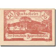 Billet, Autriche, Ruprechtshofen, 50 Heller, Château, 1921, SPL, Mehl:FS 901 - Autriche