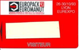 Carte Salon  Magnétique Europack93 Euromanut  Card Karte (G 201) TBE - Cartes De Salon Et Démonstration