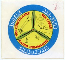 AUTOCOLLANT MODELE AIR-CLUB CHALONNAIS MARNE - Autocollants