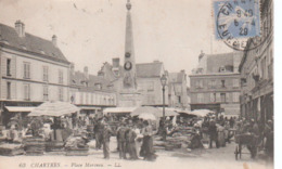 Chartres-Place Marceau.1929. - Chartres