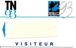 Carte Salon  Magnétique TN 93 Card Karte (G 202) TBE - Cartes De Salon Et Démonstration