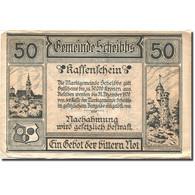 Billet, Autriche, Scheibbs, 50 Heller, Château 1920 Jaune TTB Mehl:FS 957IIb - Autriche