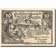 Billet, Autriche, Bruck-Waasen, 10 Heller, Château, 1921 SUP Mehl:FS 108a - Autriche