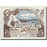 Billet, Autriche, Payerbach, 50 Heller, Personnage 1, 1920 SPL Mehl:FS 725 - Autriche