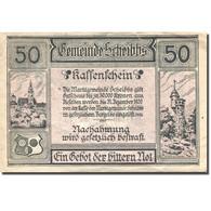 Billet, Autriche, Scheibbs, 50 Heller Chateau 1, 1920 TTB+ Violet Mehl:FS 957IIb - Autriche