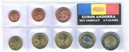 EUROS ANDORRE SET 8V. DIFF YEARS MIXTE ANNES (2014,2015,2017,ETC) - Andorre