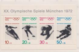 Germany 1972 Sapporo Olympic Games Souvenir Sheet MNH/** (H55) - Winter 1972: Sapporo