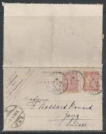 LZ-/-060--  N° 125- CL 1 , Obl. ( 1904 ) , DATE 341 , TARIF POUR LA SUISSE, ZOUG LIQUIDATION , - Biglietto Postale