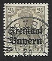 BAVIERE 1919 - YT 136 - Surchargé - Oblitéré - Bavière