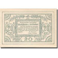 Billet, Autriche, Sarleinsbach, 20 Heller, Blason, 1920 SPL Mehl:FS 948a - Autriche