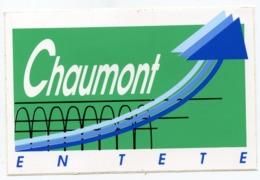AUTOCOLLANT CHAUMONT EN TETE HAUTE MARNE - Autocollants