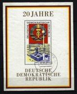 DDR - Block Nr. 28 - 20 Jahre DDR Gestempelt (14) - [6] République Démocratique