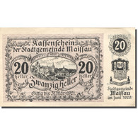 Billet, Autriche, Maissau, 20 Heller, Village 1921-03-31, SPL, Mehl:FS 573g - Autriche