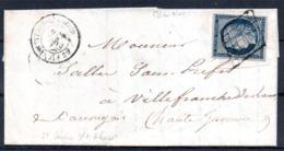 SUPERBE - YT N° 4h Bleu Noir Sur Lettre Complète - 1849-1850 Ceres