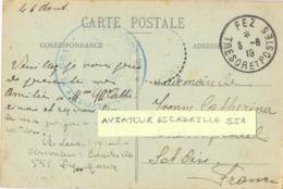 GUERRE 14-18  ESCADRILLE 551 * LE COMMANDANT *Signé Cl. Lux X Aviateur Escadrille 551  FEZ MAROC TRESOR ET POSTES 6-8-18 - Postmark Collection (Covers)