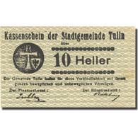 Billet, Autriche, Tulln, 10 Heller, Valeur Faciale, 1920 SUP Mehl:FS 1083I.4 - Autriche