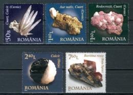 ROMANIA 2010** - Minerali - 5 Val. MNH, Come Da Scansione - Minerali
