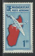 "MADAGASCAR 1941 YT PA 17* - VARIETE POINT SOUS LE ""R"" - Madagascar (1889-1960)"