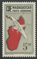 "MADAGASCAR 1941 YT PA 20b* - VARIETE POINT SOUS LE ""R"" - Madagascar (1889-1960)"