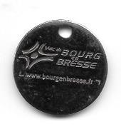 Jeton De Caddie  Ville  De  BOURG  EN  BRESSE   ( 01 ) - Einkaufswagen-Chips (EKW)
