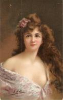 """""""A. Asti. Beautiful Lady"""" Nice Vintage German Postcard - Asti"""