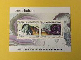 2000 ITALIA FOGLIETTO NUOVO SHEET NEW MNH** AVVENTO ANNO DUEMILA MEDITAZIONE ESPRESSIONE - 6. 1946-.. Repubblica