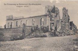 CPA - GUERRE 14-18 - CARTE ALLEMANDE - HERBÉCOURT (SOMME) - DESTRUCTIONS - ÉGLISE ? - Weltkrieg 1914-18