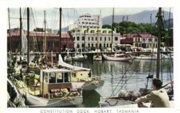 CONSTITUTION DOCK  HOBART  TASMANIA RV  Beaux Timbres 3 1/2 +1 Australia - Hobart
