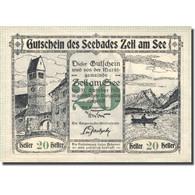 Billet, Autriche, Zell Am See, 20 Heller, Château, 1920, SPL Mehl:FS 1270II - Autriche