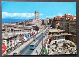 Lausanne Le Tour Bel Air Et Le Grand Pont/Bus/Oldtimer Autos - VD Vaud