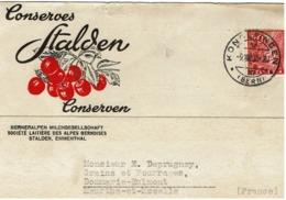 Marcophilie  -  Conserves STALDEN 6 Lettre Publicitaire De 1935 - Marcophilie