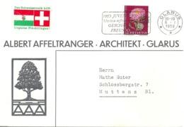 """Motiv Brief  """"Affeltranger, Architekt, Glarus""""          1959 - Brieven En Documenten"""