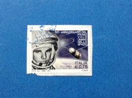 2011 ITALIA FRANCOBOLLO USATO STAMP USED PRIMO VOLO NELLO SPAZIO - 2011-...: Usati